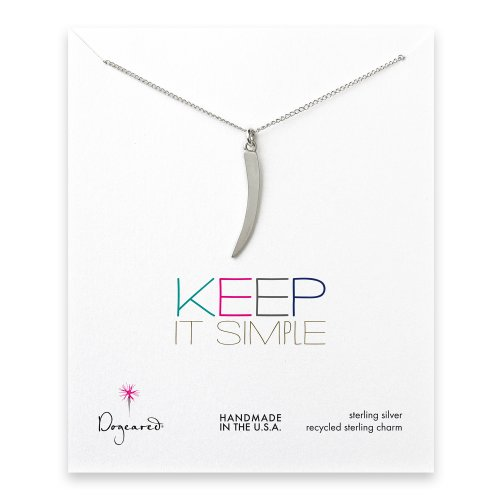 keep it simple sterling silver necklace with large horn