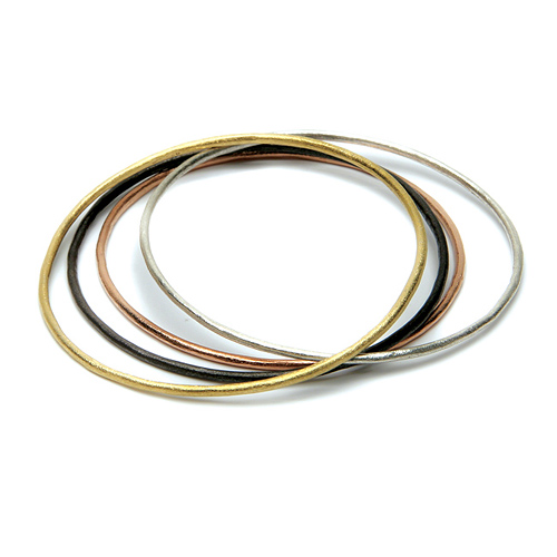 daily wear mixed textured bangle bracelets set of 4