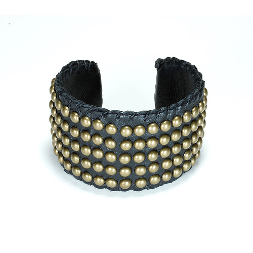100 good wishes studded black cuff