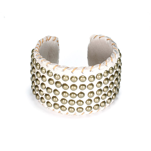 100 good wishes studded creme cuff