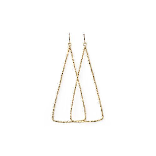 always beautiful sparkle triangle earrings, gold dipped