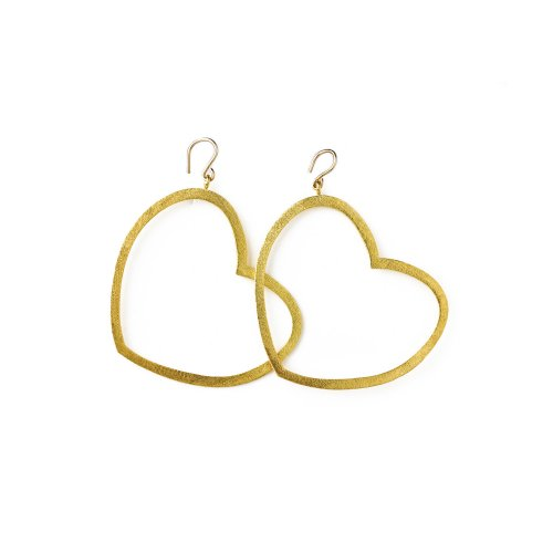 always beautiful heart earrings, gold dipped