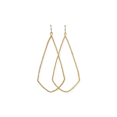 always beautiful sparkle swing earrings, gold dipped