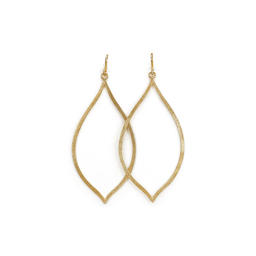 always beautiful eye gold dipped earrings