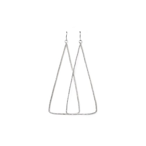 always beautiful sparkle triangle earrings, sterling silver