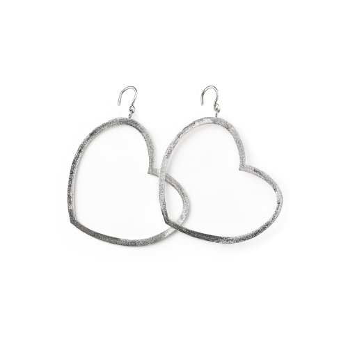 always beautiful heart earrings, sterling silver