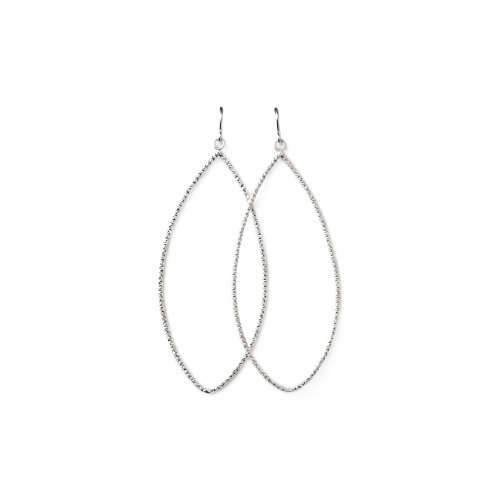 always beautiful sparkle marquise earrings, sterling silver