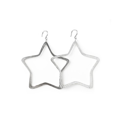 always beautiful star earrings, sterling silver