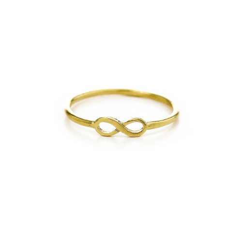infinity ring, gold dipped, size 8