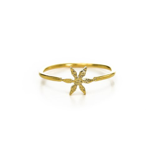 flower ring, gold dipped, size 8