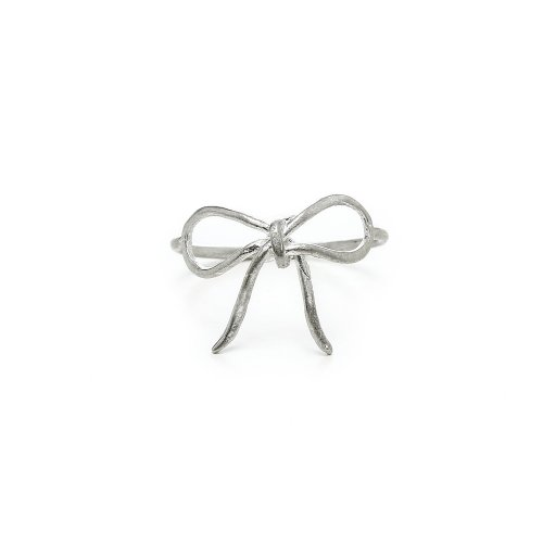 bow ring, sterling silver, size 5