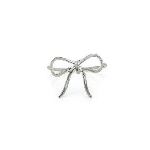 bow ring, sterling silver, size 6