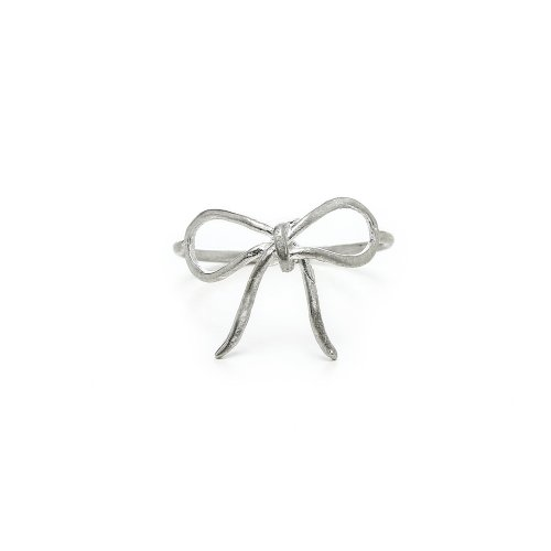 bow ring, sterling silver, size 7
