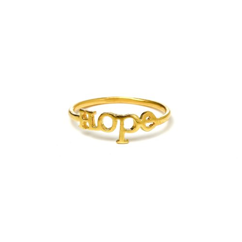 hope ring, gold dipped, size 6