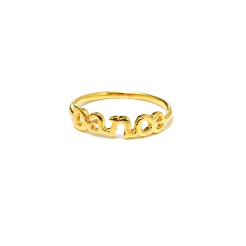 dance ring, gold dipped, size 8