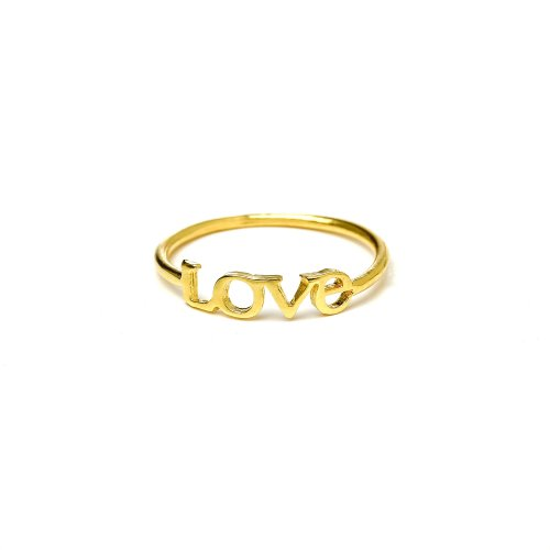 love ring, gold dipped, size 8