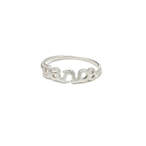 dance ring, sterling silver, size 5