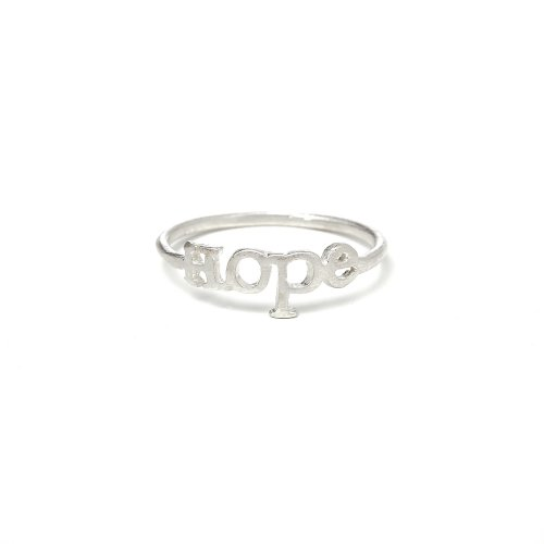 hope ring, sterling silver, size 5