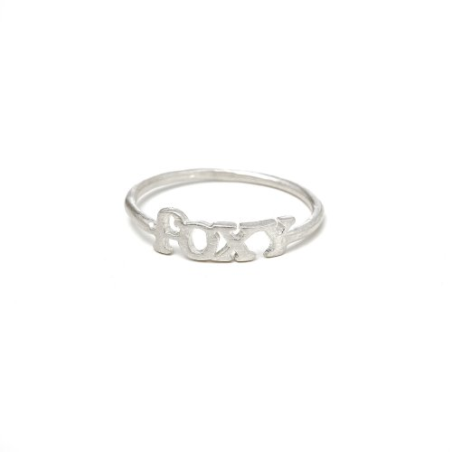 foxy ring, sterling silver, size 6