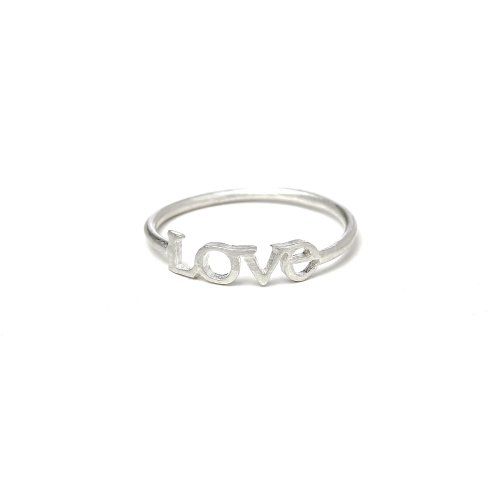 love ring, sterling silver, size 6