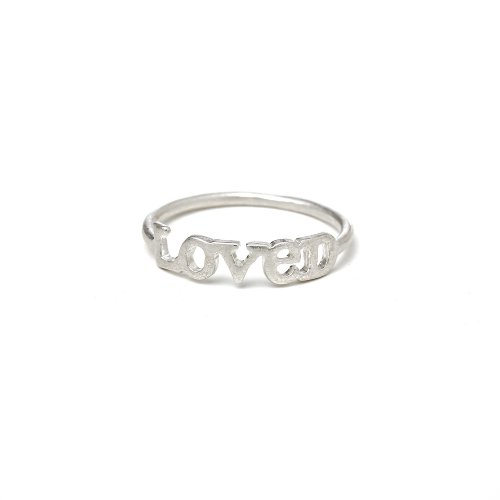 loved ring, sterling silver, size 6