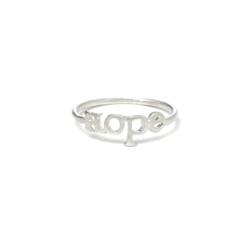 hope ring, sterling silver, size 7