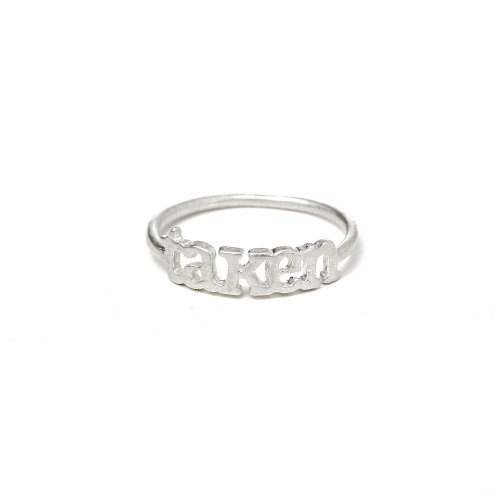 taken ring, sterling silver, size 7