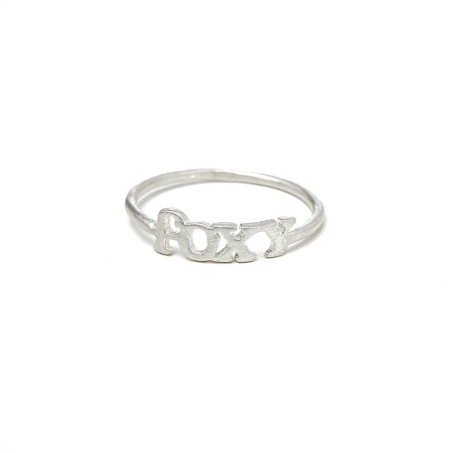 foxy ring, sterling silver, size 8