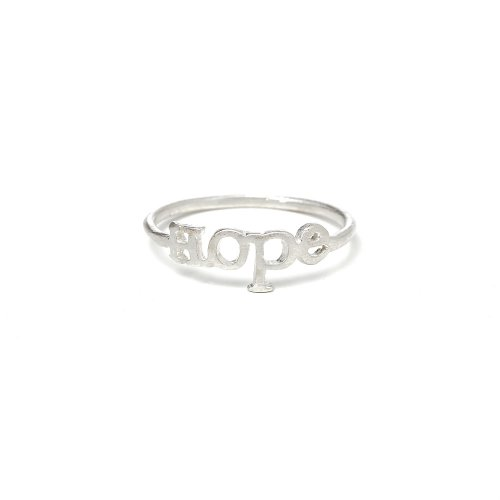 hope ring, sterling silver, size 8