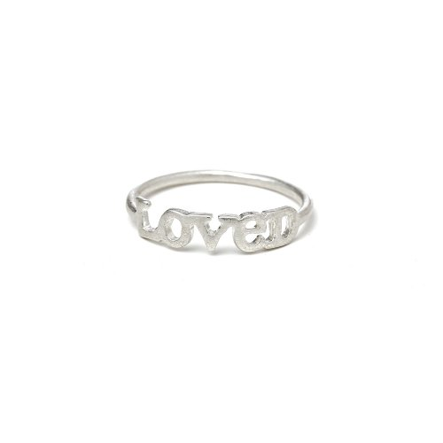 loved ring, sterling silver, size 8