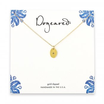dogeared+gold+dipped+initial+necklace+-+letter+a