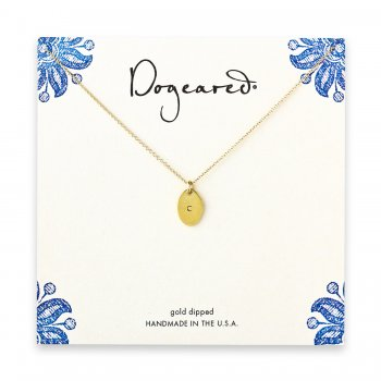 dogeared+gold+dipped+initial+necklace+-+letter+c