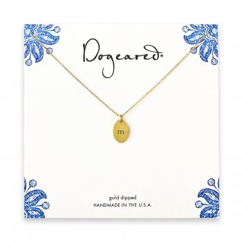 dogeared+gold+dipped+initial+necklace+-+letter+m