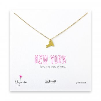 new york necklace, gold dipped