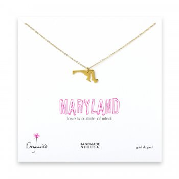 maryland necklace, gold dipped