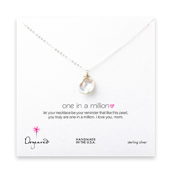 mom one in a million keshi pearl necklace, sterling silver