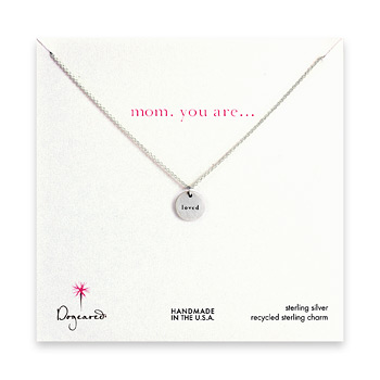 mom you are loved sterling silver necklace