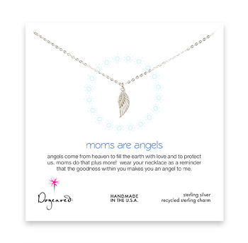 moms are angels necklace, sterling silver