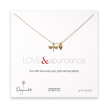 the love & abundance gold dipped necklace