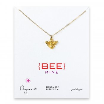 love+collection+bee+necklace%2C+gold+dipped