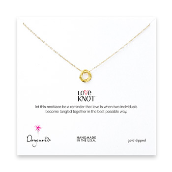 love+knot+necklace%2C+gold+dipped+-+18+inches