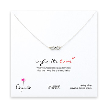 infinite love necklace, sterling silver