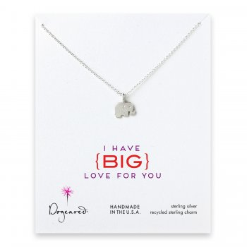 love collection elephant necklace, sterling silver