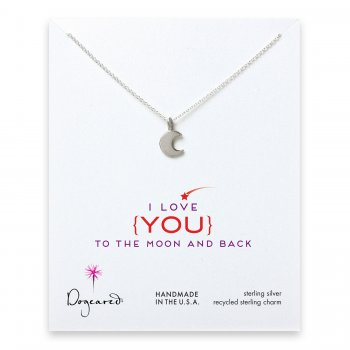 love collection moon necklace, sterling silver