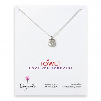 love collection owl necklace, sterling silver