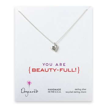 love collection full heart necklace, sterling silver