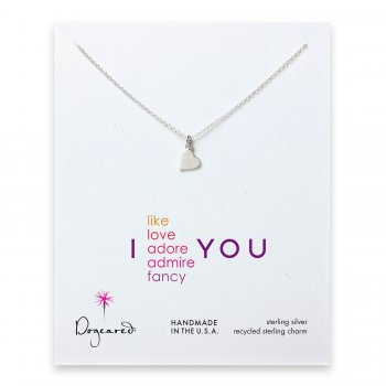 love+collection+sideways+heart+necklace%2C+sterling+silver