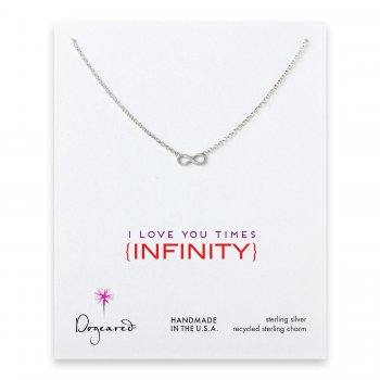 love collection infinity necklace, sterling silver
