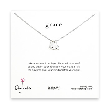 grace mantra sterling silver necklace
