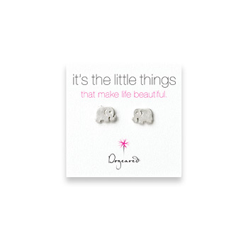 small elephant stud earrings, sterling silver
